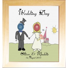 Bride & Groom Button People Wedding Gift
