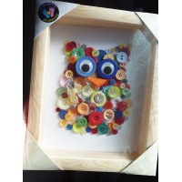 Ollie the Owl - Hand-made Button Picture