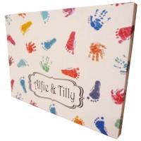 Giant Personalised Hand & Footprint Canvas Keepsake