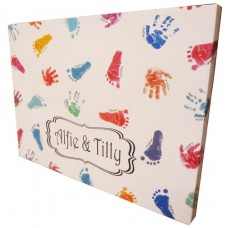 Giant Personalised Hand & Footprint Canvas Keepsake