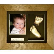 Flat Pine Framed Baby Casting Kit Name Mount