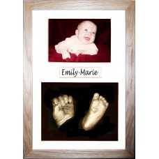 Casting Kit Black White with Solid Oak Box Frame