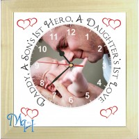 Daddy Hero Personalised Photo Clock