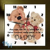 Any Man Can Be A Father Photo Clock