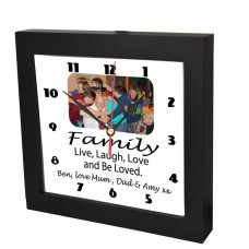 Family Live Laugh Love Photo Clock