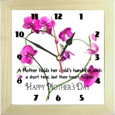 Mother's Day Flower Heart Photo Clock