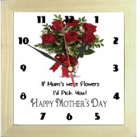 Mother's Day Roses Photo Clock