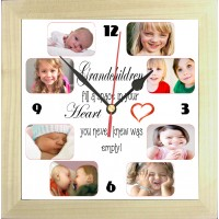 Grandchildren Personalised Photo Clock