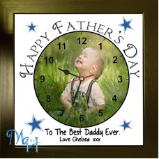 Happy Father's Day Photo Clock