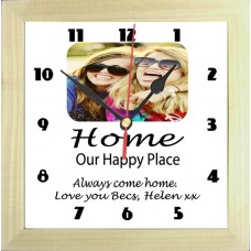 Home Our Happy Place Photo Clock