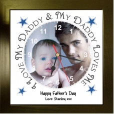 I Love Daddy Photo Clock