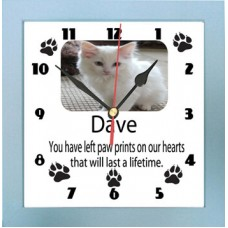 Paw Prints Lifetime Photo Clock