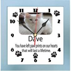 Paw Prints Lifetime Photo Clock