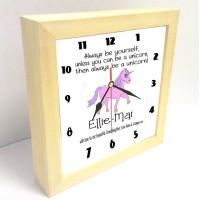 Unicorn Personalised Clock