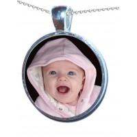 Crystallised Photo Personalised Necklace