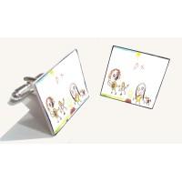 Crystallised Photo or Child's Artwork Cufflinks