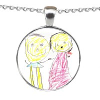 Crystallised Doodle or Artwork Personalised Necklace