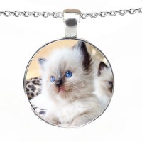 Crystallised Pet Photo Personalised Necklace