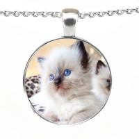 Crystallised Pet Photo Personalised Necklace