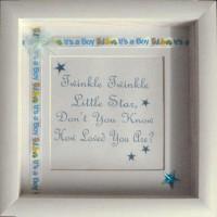 Embellished Twinkle Twinkle Frame BLUE