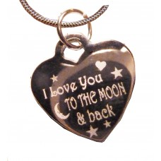 I Love You To the Moon Silver Necklace