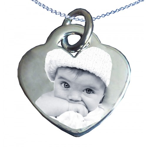760420963 925 Sterling Silver Photo Engraved Necklace