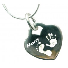 925 Silver Hand Print Footprint Necklace