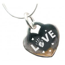 925 Silver Heart Love Necklace
