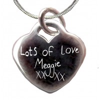 Handwriting Personalised Silver Necklace