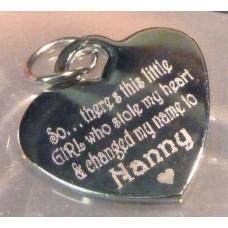 Engraved Silver Necklace NANNY