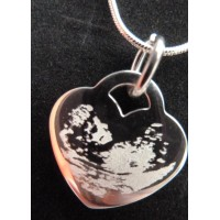 925 Sterling Silver Baby Scan Photo Necklace