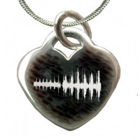 Sterling Silver Sound wave Necklace
