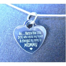 Engraved Necklace Changed My Name to Mummy