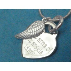 In Memory Engraved Silver Keepsake Necklace