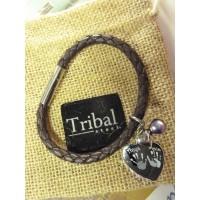 Ladies Tribal Brown Leather Hand Foot Charm Bracelet