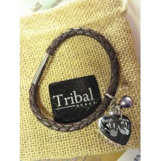 Ladies Tribal Brown Leather Hand Foot Charm Bracelet