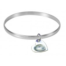 Bangle Fingerprint Charms Silver