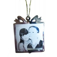 Christmas Engraved Photo Personalised Tree Decoration