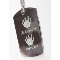 Engraved ID Tag up to 4 Prints