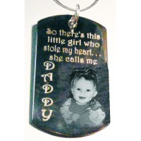 Sentimental Personalised Photo ID Tag