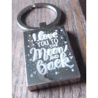 Love You to the Moon Key Ring