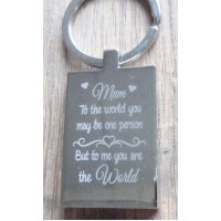Mum to the World Key Ring