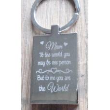 Mum to the World Key Ring