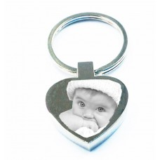 Engraved Photo Key Ring Heart