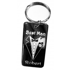 Photo Engraved Best Man Key Ring NS