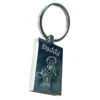 Doodle Drawing Key Ring