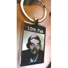 In Memory Engraved Rectangle Key Ring