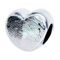 Engraved Pandora Style Fingerprint Bead Charm