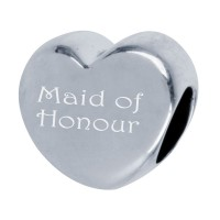 Silver Engraved Pandora Style Maid of Honour Bead