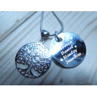 Family Names and Tree of Life Necklace